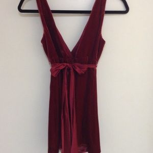 Laundry By Shelli Segal Tops - Red Velvet Party Top!